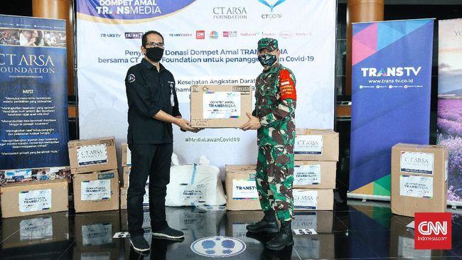 CT ARSA Foundation dan Transmedia kali ini menyalurkan donasi tahap 7 untuk penanganan Covid-19 ke tiga rumah sakit di Indonesia.
