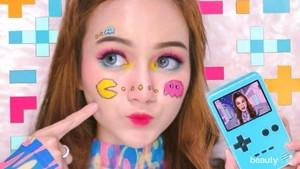 Influencer Nanda Arsynta makeup karakter