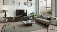 <p>Bunda juga bisa memasang karpet yang tone warnanya sama dengan dinding dan furnitur seperti ini. (Foto: iStock)</p>