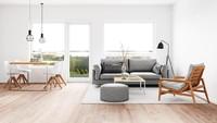 <p>Penggunaan karpet bisa dijadikan sebagai pemisah ruangan seperti ini. Jadi, ruangan sudah terpisah tanpa adanya penyekat. (Foto: iStock)</p>