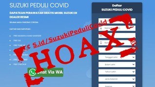 Suzuki Laporkan Situs Hoaks 'Peduli Covid' ke Kominfo