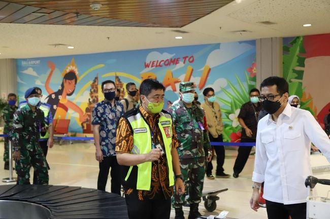 Menparekraf Apresiasi Protokol Kesehatan Di Bandara Bali