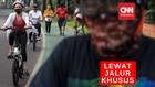 VIDEO: Ada Jalur Khusus, Pesepeda Tak Lagi Gunakan Trotoar