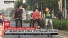 VIDEO: Keluar dari Jalur Khusus, Pesepeda Akan Ditilang