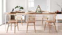 Kalau rumah minimalis milik Bunda bertema serba putih, cobalah untuk menggunakan meja makan yang terbuat dari kayu seperti ini. (Foto: iStock)
