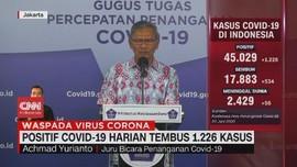 VIDEO: Positif Covid-19 Harian Tembus 1.226 Kasus