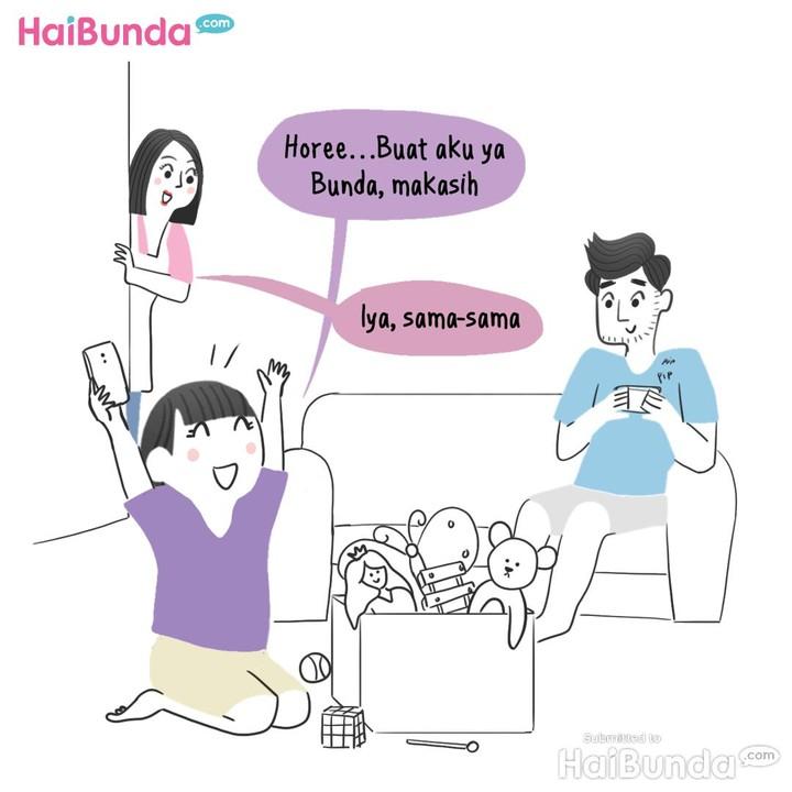 Komik HP baru kakak