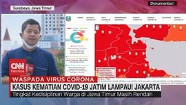 VIDEO: Kasus Kematian Covid-19 Jatim Lampaui Jakarta