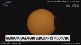 VIDEO: Gerhana Matahari Sebagian di Indonesia