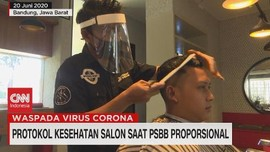 VIDEO: Protokol Kesehatan Salon Saat PSBB Proposional