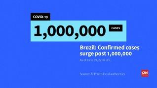 VIDEO: Kasus Positif Covid-19 di Brasil Tembus 1 Juta