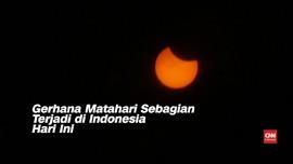 VIDEO: Gerhana Matahari Sebagian Terjadi di Indonesia