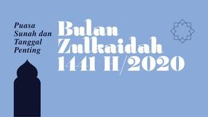 INFOGRAFIS: Jadwal Puasa Sunah Bulan Zulkaidah 1441H/2020