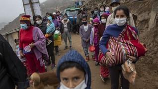 FOTO: Dapur Umum Lawan Kelaparan saat Pandemi di Peru