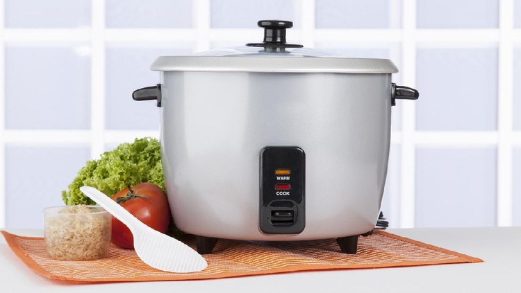 kitchen equipment; Automatic rice cooker gray.