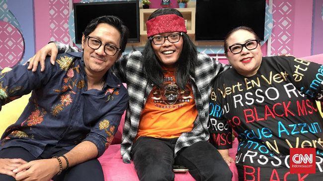 Andre, Sule, dan Nunung dalam acara Santuy Malam Trans TV.