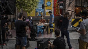 FOTO: Syuting Pertama di Spanyol Usai 'Badai' Corona