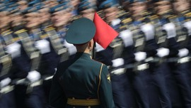 FOTO: Parade Kemenangan Rusia dari Nazi Jerman Kala Pandemi