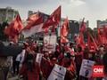 Kader PDIP Jaktim Longmarch Minta Pembakaran Bendera Diusut