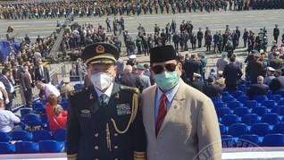 Prabowo Bertemu Menhan China saat Hadiri Victory Day di Rusia