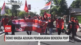 VIDEO: Demo Massa Adukan Pembakaran Bendera PDIP