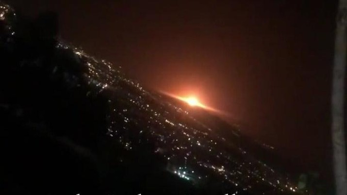 Ledakan di fasilitas militer iran (Dok. Twitter @2_ordu)