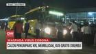 VIDEO: Calon Penumpang KRL Membludak, Bus Gratis Diserbu