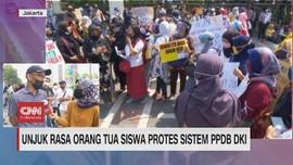 VIDEO: Unjuk Rasa Orang Tua Siswa Protes Sistem PPDB DKI