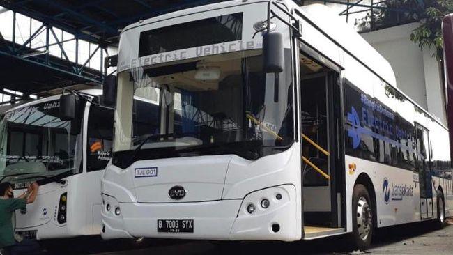 Bus Listrik Transjakarta merek BYD