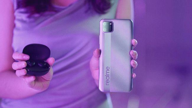Realme membanderol C11 diharga Rp1 jutaan dengan baterai besar 5.000 mAh.
