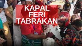 VIDEO: Kapal Feri Tabrakan, 28 Orang Tewas