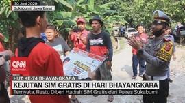 VIDEO: Kejutan SIM Gratis di Hari Bhayangkara