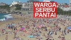 VIDEO: Lockdown Dicabut, Ratusan Orang Berlibur ke Pantai