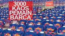 VIDEO: 3 Ribu Kaos Pemain Tonton Laga Barcelona vs Atletico