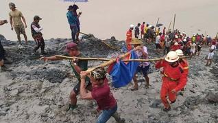 Tambang Batu Giok di Myanmar Longsor, 126 Orang Tewas