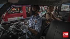 Lebihi Kapasitas Saat PSBB, Puluhan Angkot-Bajaj Kena Razia