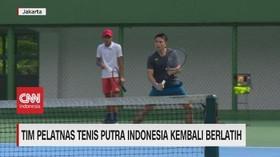 VIDEO: Tim Pelatnas Tenis Putra Indonesia Kembali Berlatih