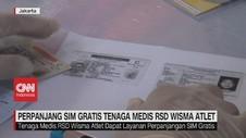 VIDEO: Perpanjang SIM Gratis Tenaga Medis RSD Wisma Atlet