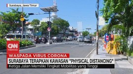 VIDEO: Surabaya Terapkan Kawasan 'Physical Distancing'