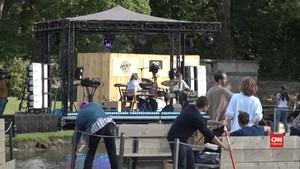 VIDEO: Pandemi, Festival Musik Belgia Digelar di Danau