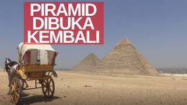 VIDEO: Piramida Giza Dibuka Kembali