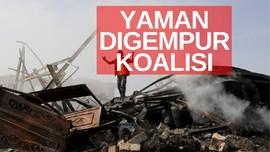 VIDEO: Pasukan Koalisi Pimpinan Arab Saudi Gempur Yaman