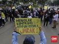 FOTO: Protes PPDB DKI di Seberang Istana