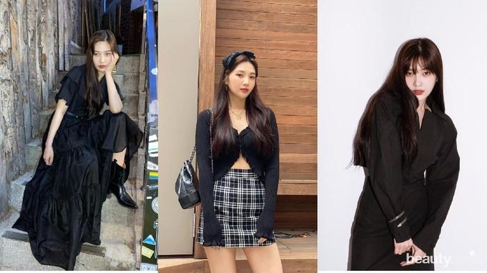 Pakai Outfit All-Black, Begini 7 Ide Fashion Joy Red Velvet
