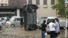Hujan Deras Hambat Evakuasi Korban Banjir Jepang