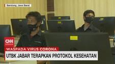 VIDEO: UTBK Jabar Terapkan Protokol Kesehatan