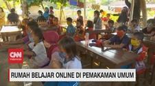 VIDEO: Rumah Belajar Online di Pemakaman Umum