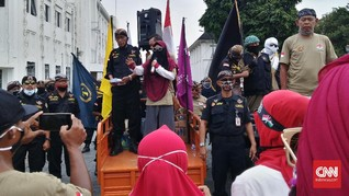 Puluhan Orang Gelar Aksi Ganyang PKI di Titik Nol Yogyakarta
