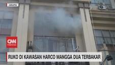 VIDEO: Ruko di Kawasan Harco Mangga Dua Terbakar