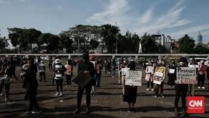 FOTO: Gerak Perempuan Tuntut Pengesahan RUU PKS